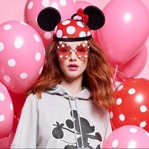 KAREN WALKER x DISNEY Pink Minnie Dot Sunglasses